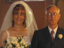 bride with Dad
