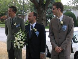 Peter with groomsmen